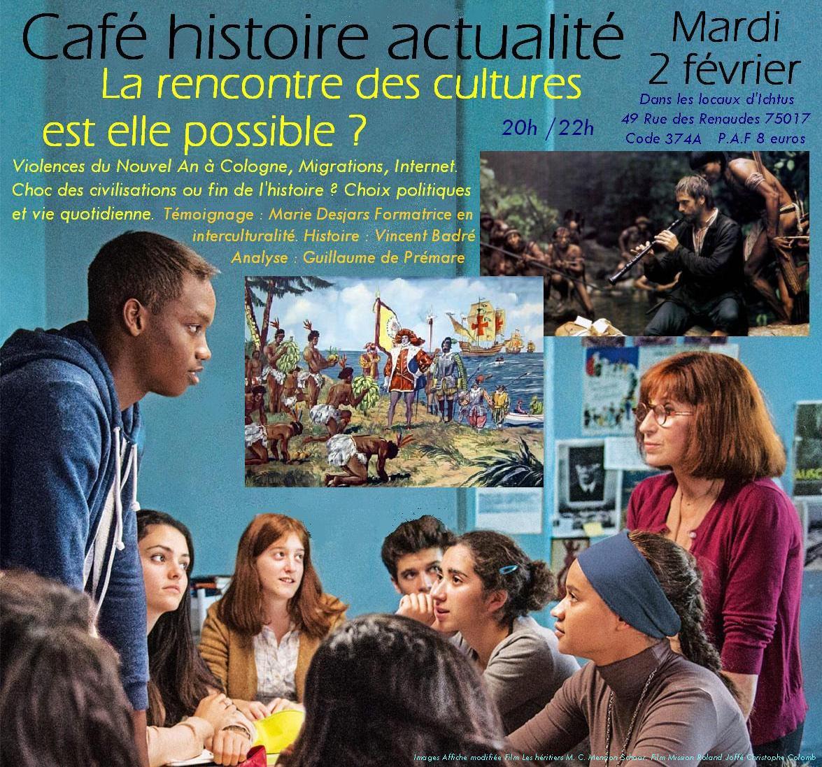 affiche Café Histoire Actualité Rencontre cultures 02 02