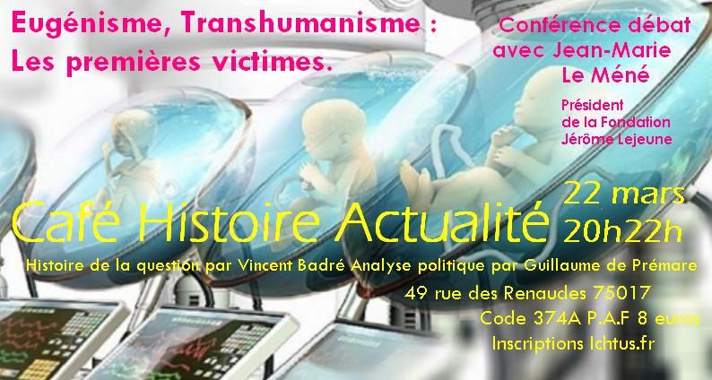 Affiche Café Histoire Actualité Eugénisme
