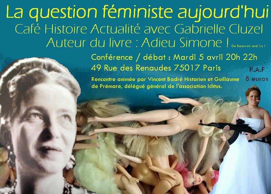 affiche café actualité féminisme Cluzel